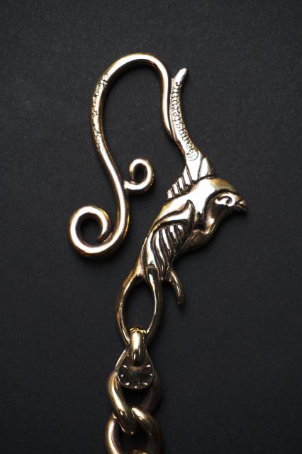 GANGSTERVILLE×galcia WALLET - CHAIN 45cm SWALLOW BRASS