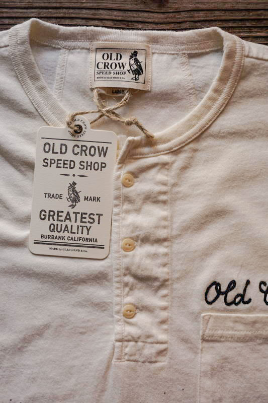 OLD CROW GLORY - S/S HENRY T-SHIRTS WHITE