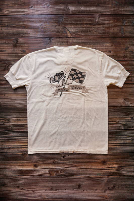 OLD CROW RACE LOVER - S/S HENRY T-SHIRTS WHITE