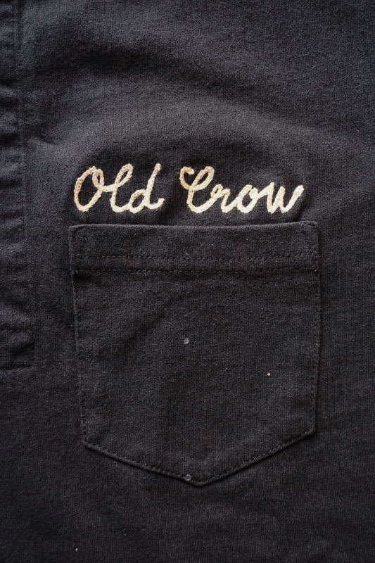 OLD CROW GLORY - S/S HENRY T-SHIRTS BLACK