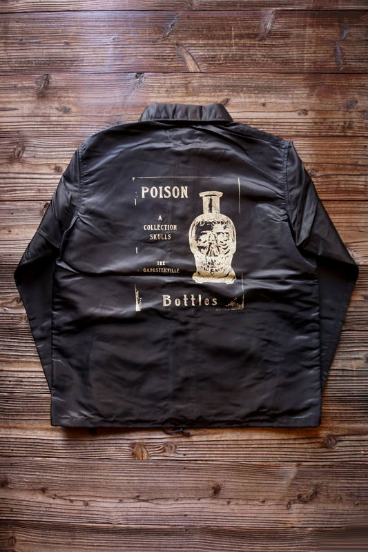GANGSTERVILLE POISON - COACH JACKET BLACK