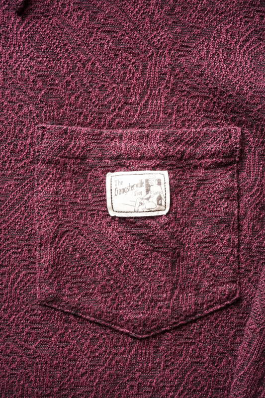 GANGSTERVILLE PAISLEY - L/S SHIRTS BURGUNDY