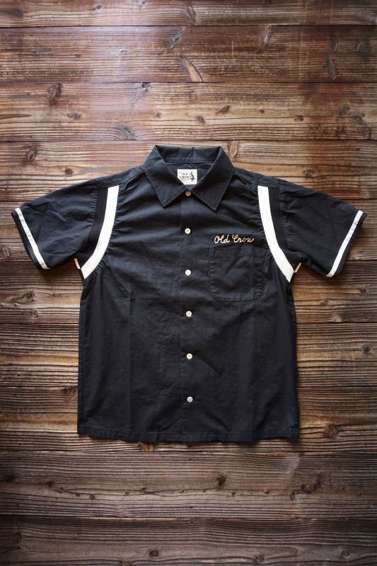 OLD CROW HIGHLAND PARK - BOWLING SHIRTS BLACK