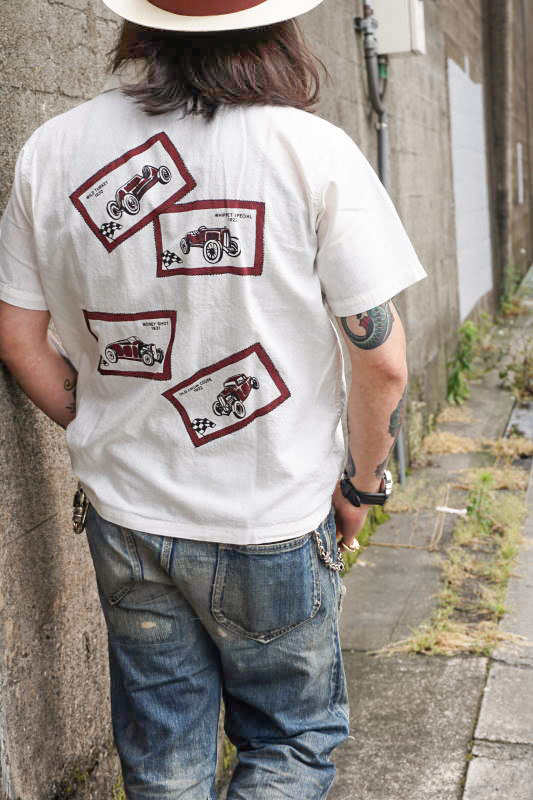 OLD CROW OLD LETTERS - S/S SHIRTS WHITE